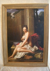 La toile de peinture Suzanne au bain